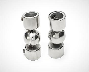 Em Aço 304 Polido, as conexões são uma sugestão para conectar os tubos sem o uso da solta. Flexíveis, eles podem variar o angulo de 80 a 180 graus, conforme a necessidade.
