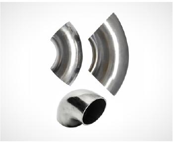 Em Aço 304 Polido, as curvas unem os tubos em ângulos de 90 graus, e são disponibilizadas em vários tamanhos.
